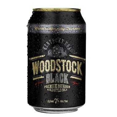 WOODSTOCK BLACK 7% 330ML 4PK CANS WOODSTOCK BLACK 7% 330ML 4PK CANS