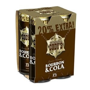CODYS 7% 4PK CANS CODYS 7% 4PK CANS