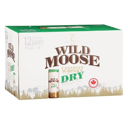 WILD MOOSE 7%, 12*250ML CANS WILD MOOSE 7%, 12*250ML CANS
