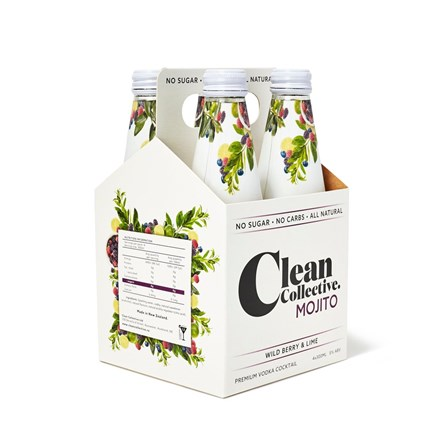 Clean collective wildberry and lime 4 pack 330ML Clean collective wildberry and lime