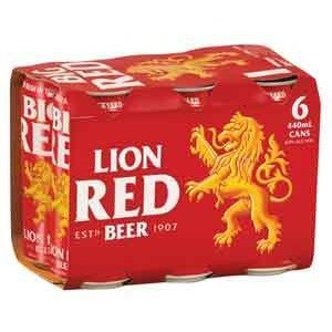 LION RED 440ML 6PK CANS LION RED 440ML 6PK CANS
