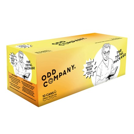 ODD COMPANY PINEAPPLE, LIME AND WHITE RUM 5% 10*330ML CANS ODD COMPANY PINEAPPLEWHITE RUM 5% 10*330ML CANS