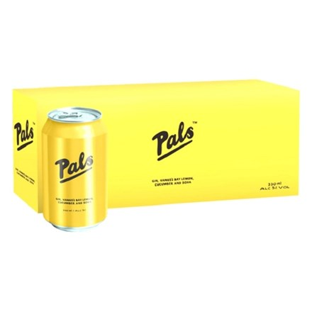 Pals gin, lime and soda 10 pack ,330ML cans Pals gin, lime and soda 10 pack ,330ML cans