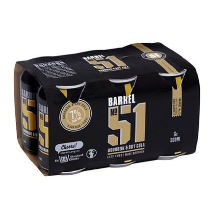 BARREL 51 & COLA 7%, 6*330ML CANS BARREL 51 & COLA 7%, 6*330ML CANS