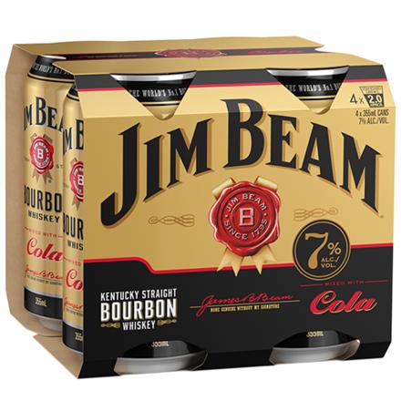 Jim beam gold 7%,  4*355ml cans Jim beam gold 7%,  4*355ml cans