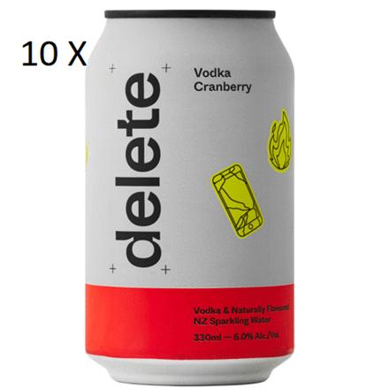 DELETE VODKA CRANBERRY 6%, 10*330ML CANS DELETE VODKA CRANBERRY 6%, 10*330ML CANS