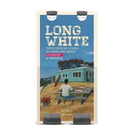 LONG WHITE RASPBERRY 4.8%, 4*320ML BOTTLES LONG WHITE RASPBERRY 4.8%, 4*320ML BOTTLES