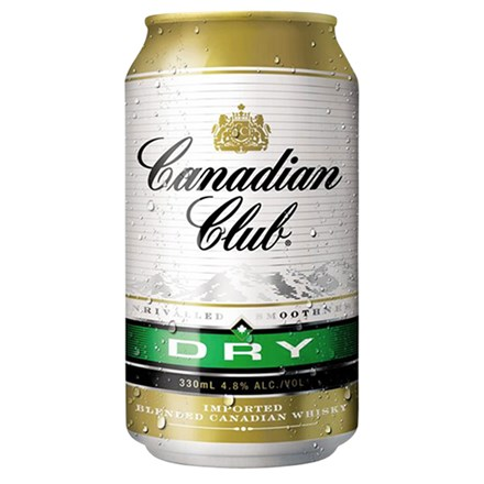 CANADIAN & DRY 4.8%, 4*330ML CANS CANADIAN & DRY 4.8%, 4*330ML CANS