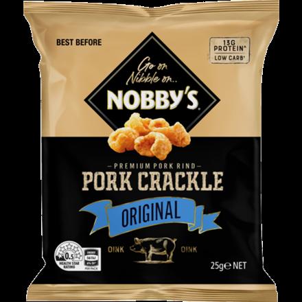 NOBBY'S PORK CRACKLE ORIGINAL 25G NOBBY'S PORK CRACKLE ORIGINAL 25G