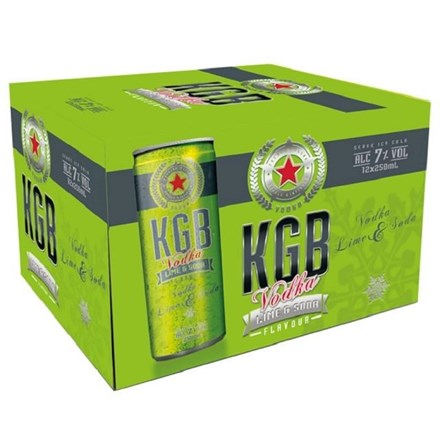 KGB Lime and soda 12pack, 250ml cans KGB Lime and soda 12pack, 250ml cans