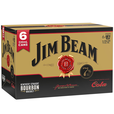 Jim Beam gold 7% 6 pack 330 ml cans Jim Beam gold 7% 6 pack 330 ml cans