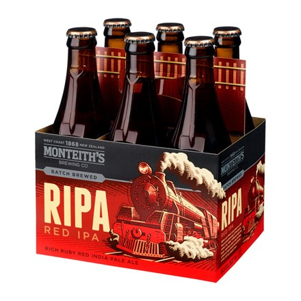 MONTEITHS RIPA RED IPA 5.3%, 6*330ML BTLS MONTEITHS RIPA RED IPA 5.3%, 6*330ML BTLS