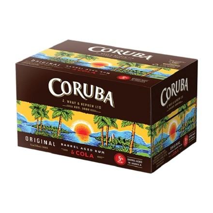 CORUBA COLA ORIGINAL 7% 12PK CANS CORUBA COLA ORIGINAL 7% 12PK CANS