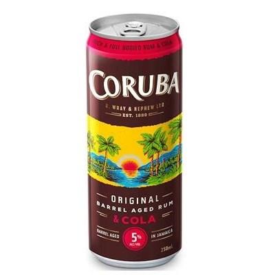 CORUBA 5% 4PK ORIGNAL COLA CANS CORUBA 5% 4PK ORIGNAL COLA CANS