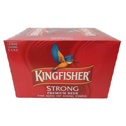 KINGFISHER 12PK 7% 500ML CANS KINGFISHER 12PK 7% 500ML CANS