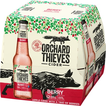 ORCHARD THIVES BERRY 12 PACK 330ML BOTTLES ORCHARD THIVES BERRY 12 PACK 330ML BOTTLES