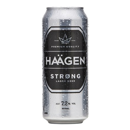 HAAGEN STRONG 7.2% , 500ML CANS HAAGEN STRONG 7.2% , 500ML CANS