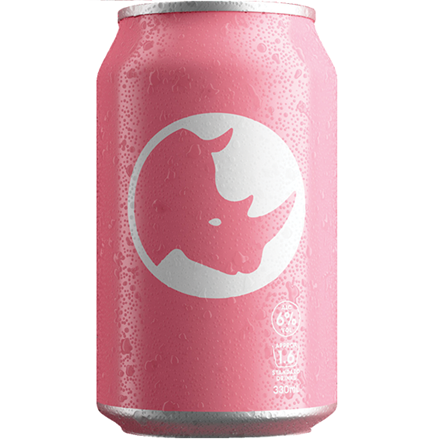 Pink rhino gin 6%, 10 pack, 300ML cans Pink rhino gin 6%, 10 pack, 300ML cans