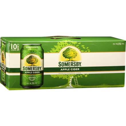 SOMERSBY APPLE CIDER 10 PACK 330 ML CANS SOMERSBY APPLE CIDER 10 PACK 330 ML CANS