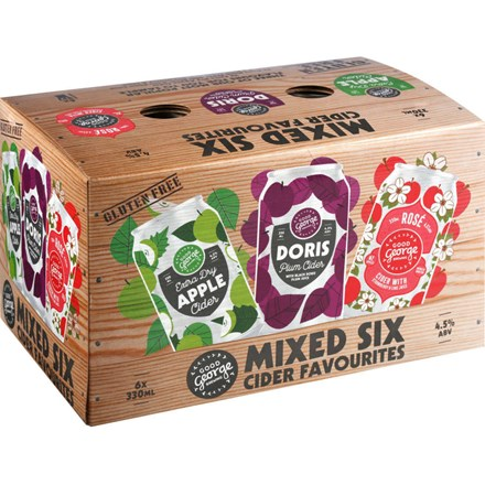 GOOD GEORGE MIXED SIX CIDER FAVOURITES CANS GOOD GEORGE MIXED SIX CIDER FAVOURITES CANS