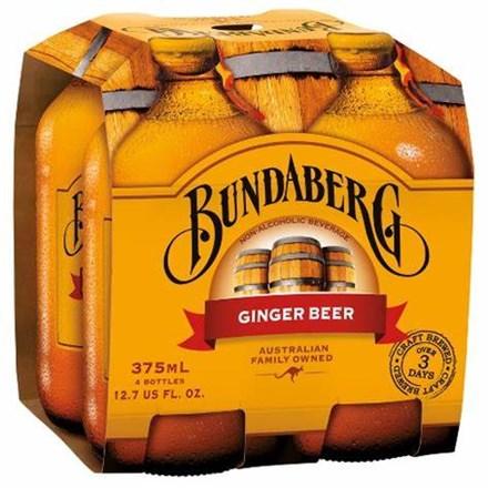 Bundaberg ginger beer 4*375ML Bundaberg ginger beer 4*375ML