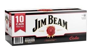 JIM BEAM 10PK CAN ZERO & COLA JIM BEAM 10 PK CAN ZERO & COLA
