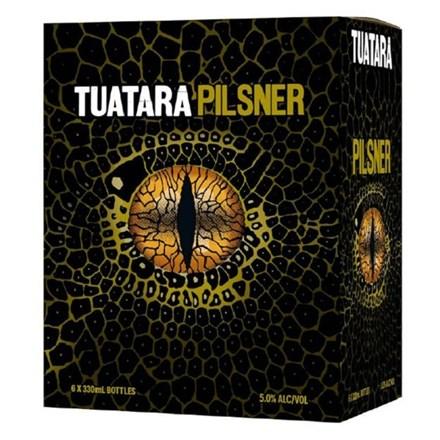 TUATARA PILSNER 5.0%, 6*330ML BTLS TUATARA PILSNER 5.0%, 6*330ML BTLS
