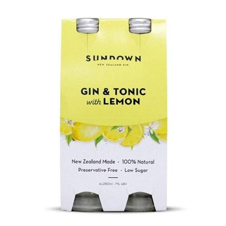 Sun down gin, lime and soda7 % , 4 pack 330ML bottles Sun down gin, lime and soda 4 pack 330ML bottles
