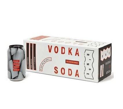 Rinse 6% vodka blood orange soda 10 pack 330ML cans Rinse 6% vodka blood orange soda