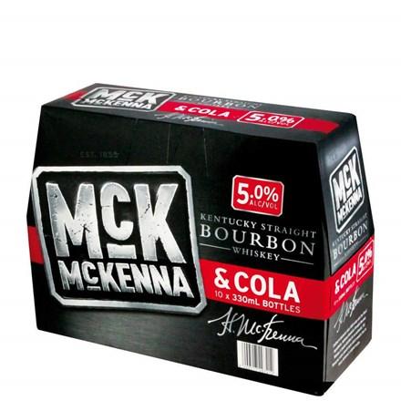 MCKENNA 5% BOURBON AND COLA 10PK BOTTLES MCKENNA 5% BOURBON AND COLA 10PK BOTTLES