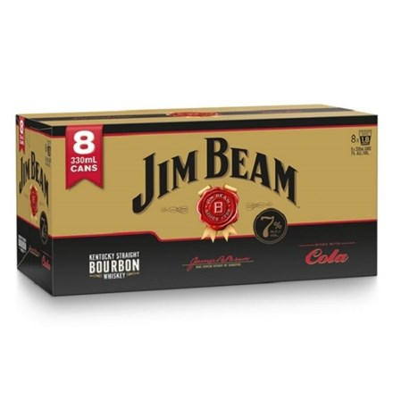 Jim beam gold 7% 8 pack cans 330ML Jim beam gold 7% 8 pack cans 330ML