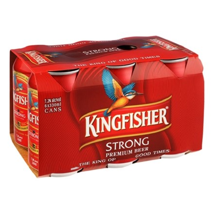 KINGFISHER 7.2 % 6*330ML CANS KINGFISHER 7.2 % 6*330ML CANS