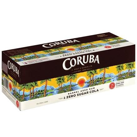 CORUBA & ZERO SUGAR COLA 7%, 10*330ML CANS CORUBA & ZERO SUGAR COLA 7%, 10*330ML CANS