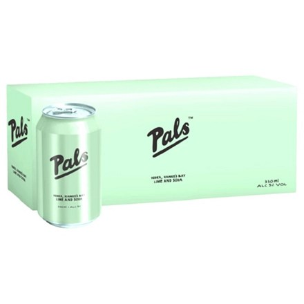Pals Vodka Lime and Soda 10pack 330ML Pals Vodka Lime and Soda 10pack 330ML