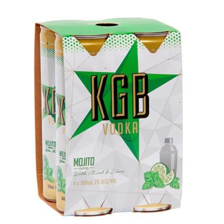 KGB MOJITO 7% 4*300ML CANS KGB MOJITO 7% 4*300ML CANS