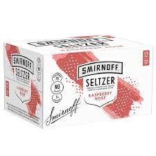 SMIRNOFF OFF SELTZER 5% RASP & ROSE 12*250ML CANS SMIRNOFF OFF SELTZER 5% RASP & ROSE 12*250ML CANS