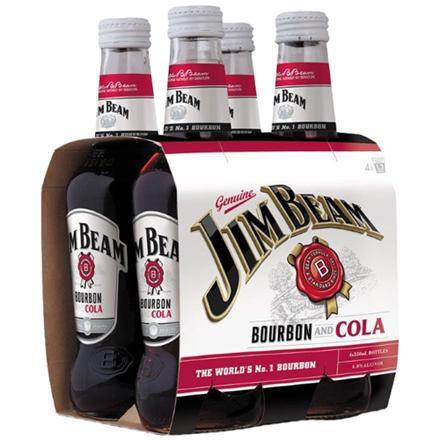 Jim beam 4.8%, 330ml bottles Jim beam 4.8%, 330ml bottles