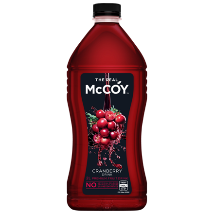 MCCOY CRANBERRY JUICE 2L MCCOY CRANBERRY JUICE 2L