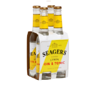 Seagers Gin and tonic 7%, 4 pack 330ML Seagers Gin and tonic 7%, 4 pack 330ML
