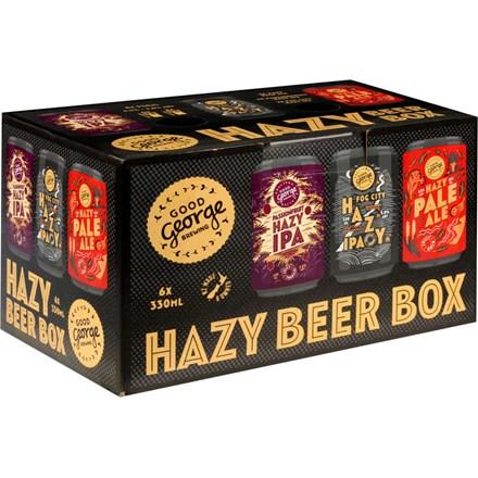 Good George Hazy Beer Box Mix 6*330ML Cans Good George Hazy Beer Box Mix 6*330ML Cans