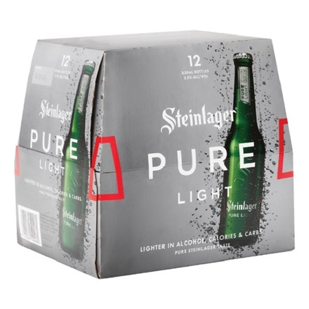 Steinlager Pure light 12 pack bottles Steinlager Pure light 12 pack bottles