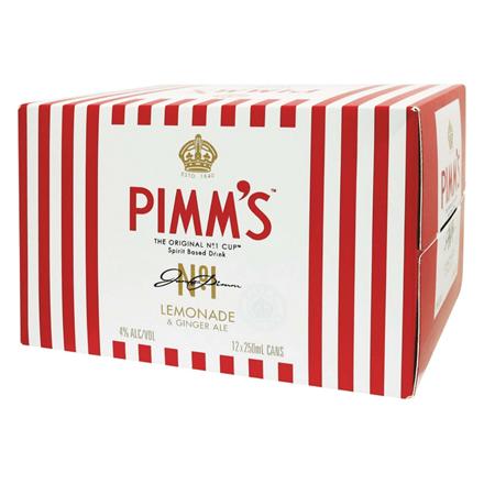 PIMM'S LEMONADE & GINGER ALE 12PK PIMM'S LEMONADE & GINGER ALE 12PK