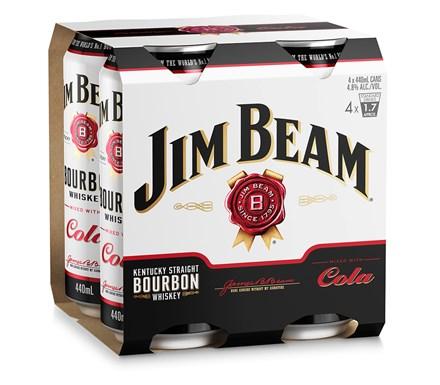 Jim beam and cola 4.8%, 440ml Cans Jim beam and cola 4.8%, 440ml Cans