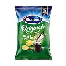 BLUE BIRD ORIGINAL SALT AND VINEGAR 150G BLUE BIRD ORIGINAL SALT AND VINEGAR 150G