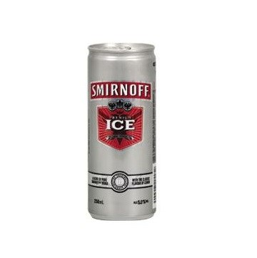 SMIRNOFF ICE 5% 4*250ML CANS SMIRNOFF ICE 5% 4*250ML CANS