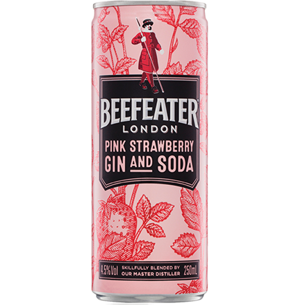 Beefeaters pink 4.5%, 4 pack 250ml cans Beefeaters pink 4.5%, 4 pack 250ml cans