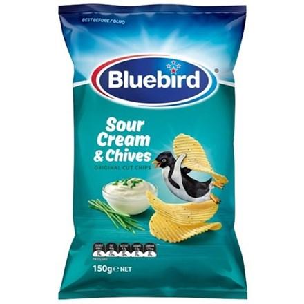 BLUE BIRD ORIGINAL SOUR CREAM AND CHIVES 150G BLUE BIRD ORIGINAL SOUR CREAM AND CHIVES 150G