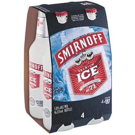 Smirnoff 5%, 4*330ML Bottles Smirnoff 5%, 4*330ML Bottles