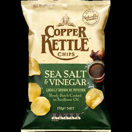 COPPER KETTLE SEA SALT AND VINEGAR 150G COPPER KETTLE SEA SALT AND VINEGAR 150G