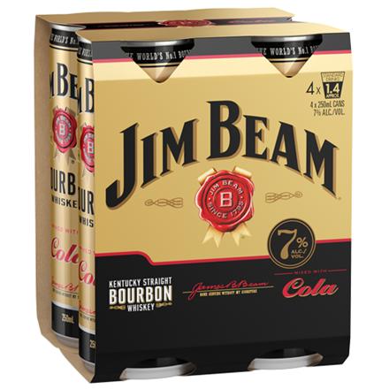 Jim beam gold 7%, 4*250ml cans Jim beam gold 7%, 4*250ml cans